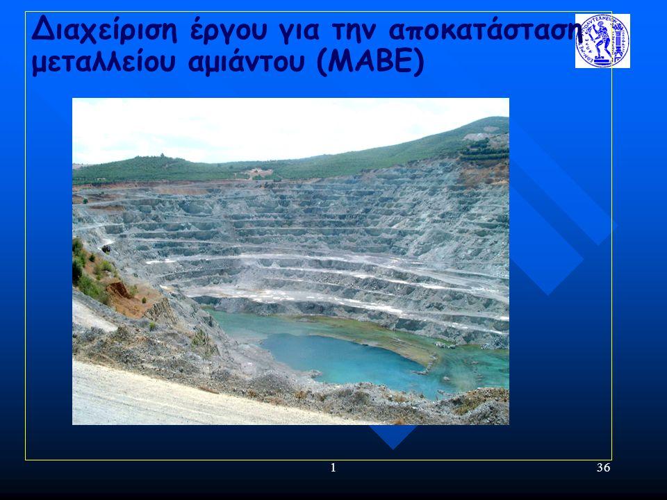 Διαχείριση έργου για την αποκατάσταση μεταλλείου αμιάντου (ΜΑΒΕ)