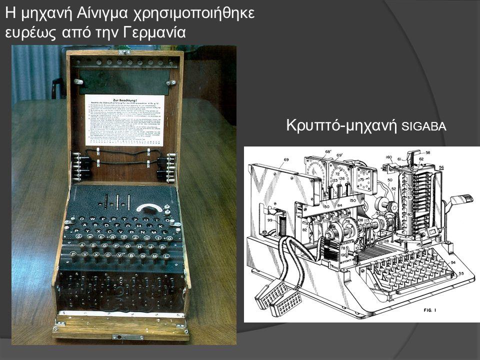 Η μηχανή Αίνιγμα χρησιμοποιήθηκε ευρέως από την Γερμανία