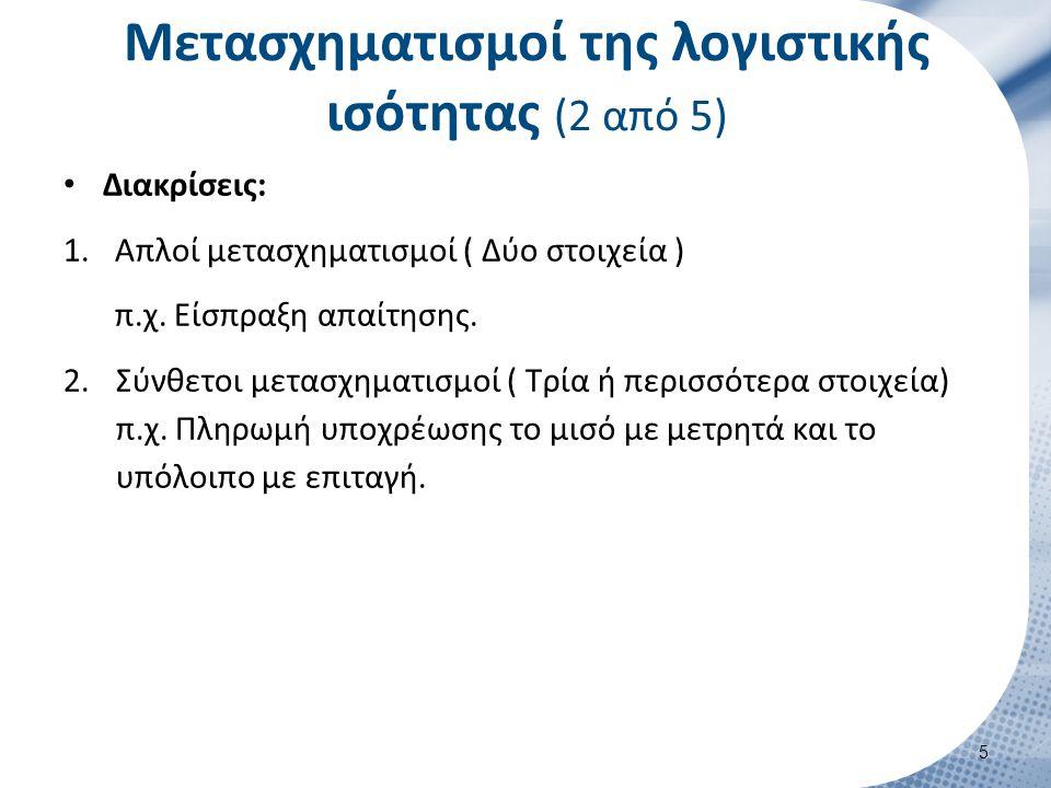 Μετασχηματισμοί της λογιστικής ισότητας (3 από 5)