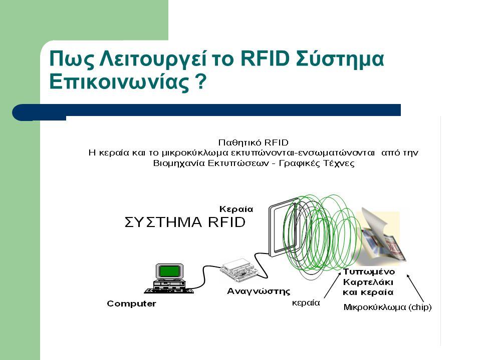 Πως Λειτουργεί το RFID Σύστημα Επικοινωνίας