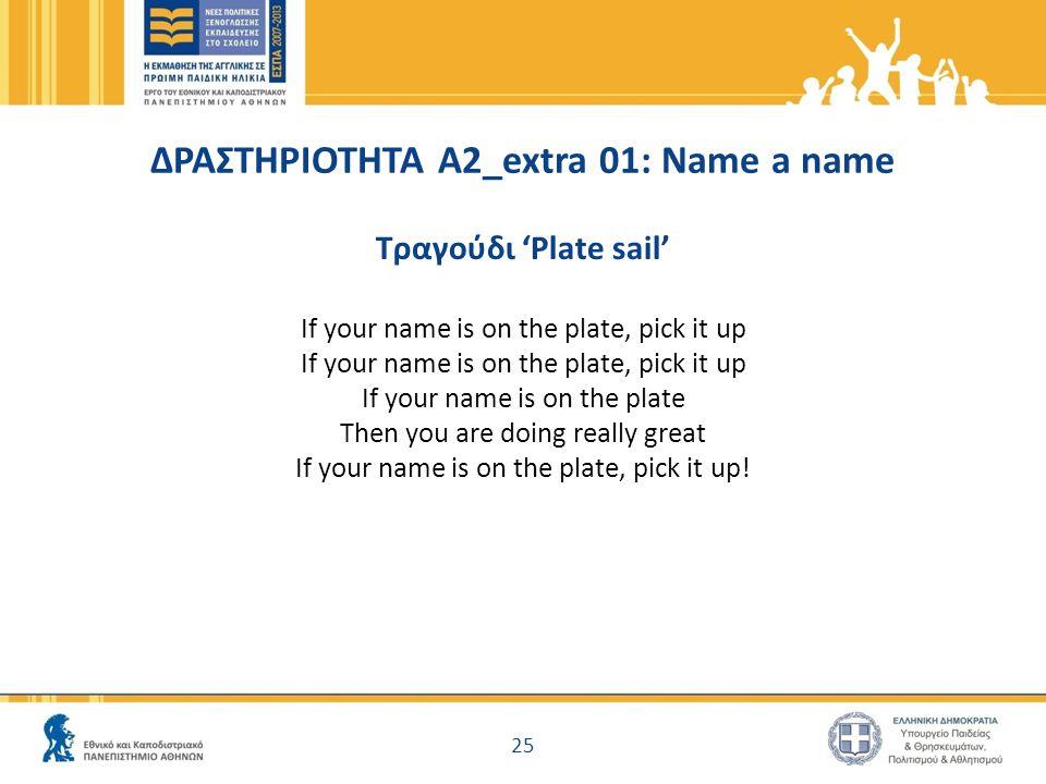 ΔΡΑΣΤΗΡΙΟΤΗΤΑ Α2_extra 01: Name a name