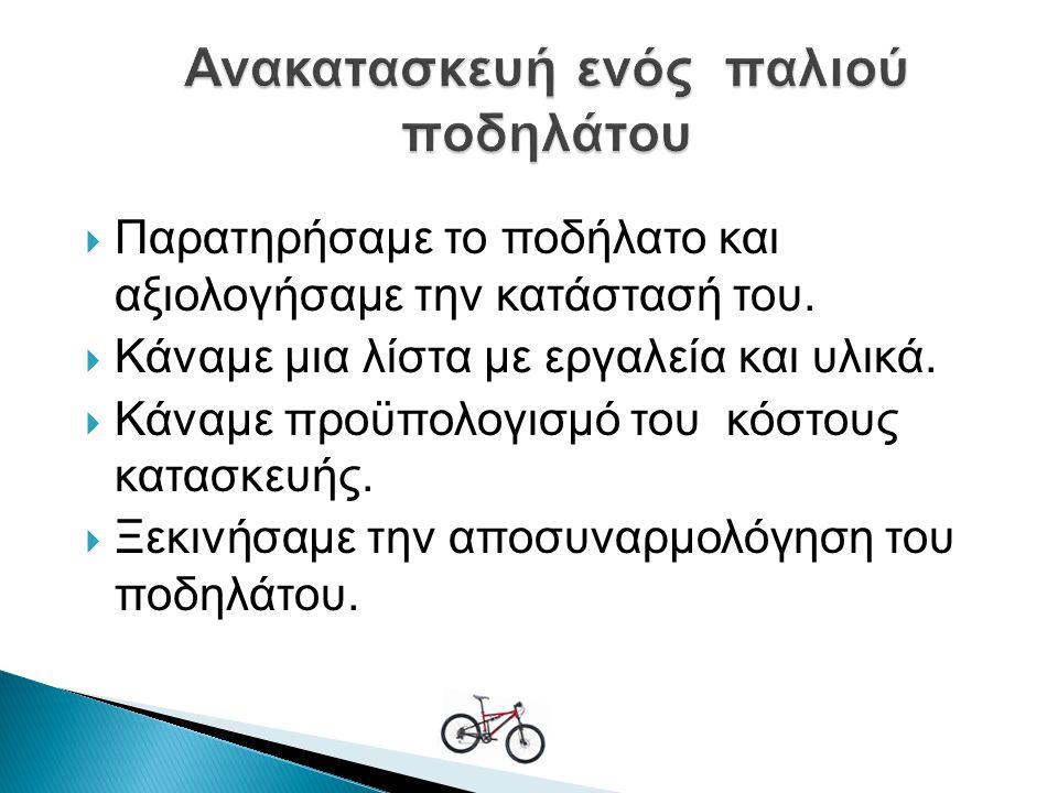 Ανακατασκευή ενός παλιού ποδηλάτου