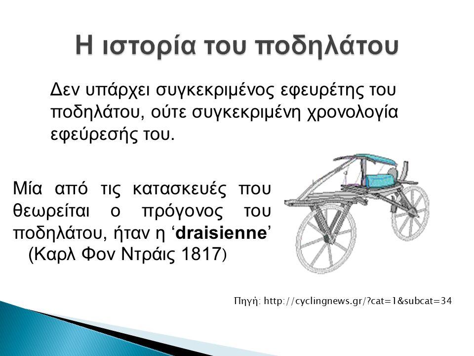 Η ιστορία του ποδηλάτου