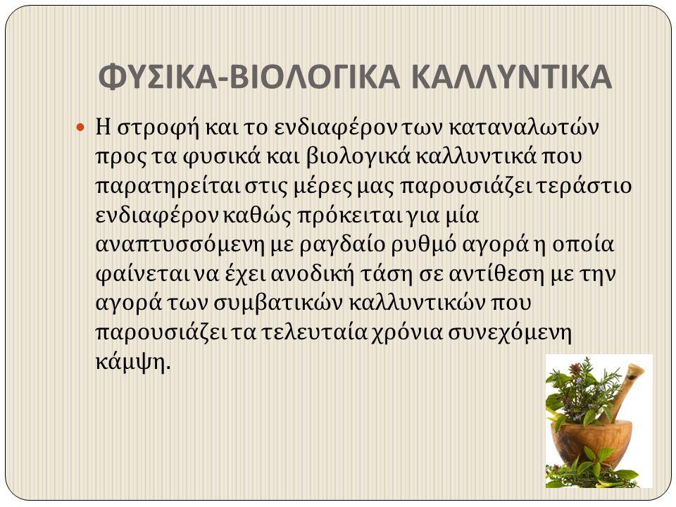 ΦΥΣΙΚΑ-ΒΙΟΛΟΓΙΚΑ ΚΑΛΛΥΝΤΙΚΑ