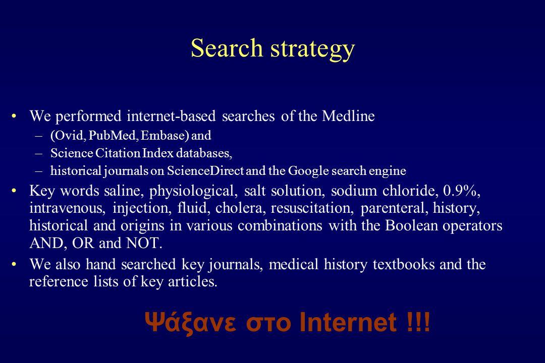 Search strategy Ψάξανε στο Internet !!!