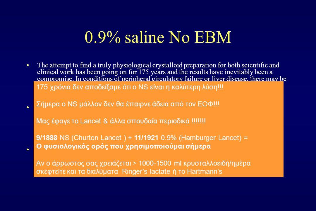 0.9% saline No EBM