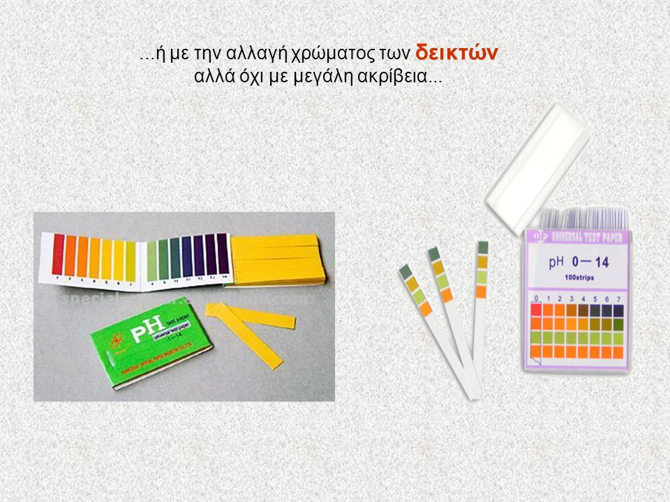 ...ή με την αλλαγή χρώματος των δεικτών αλλά όχι με μεγάλη ακρίβεια...