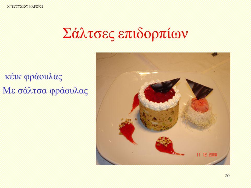 Σάλτσες επιδορπίων κέικ φράουλας Με σάλτσα φράουλας