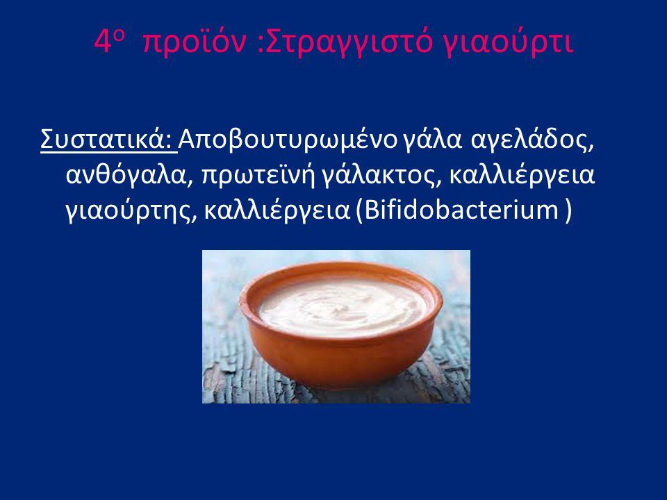 4ο πρoϊόν :Στραγγιστό γιαούρτι