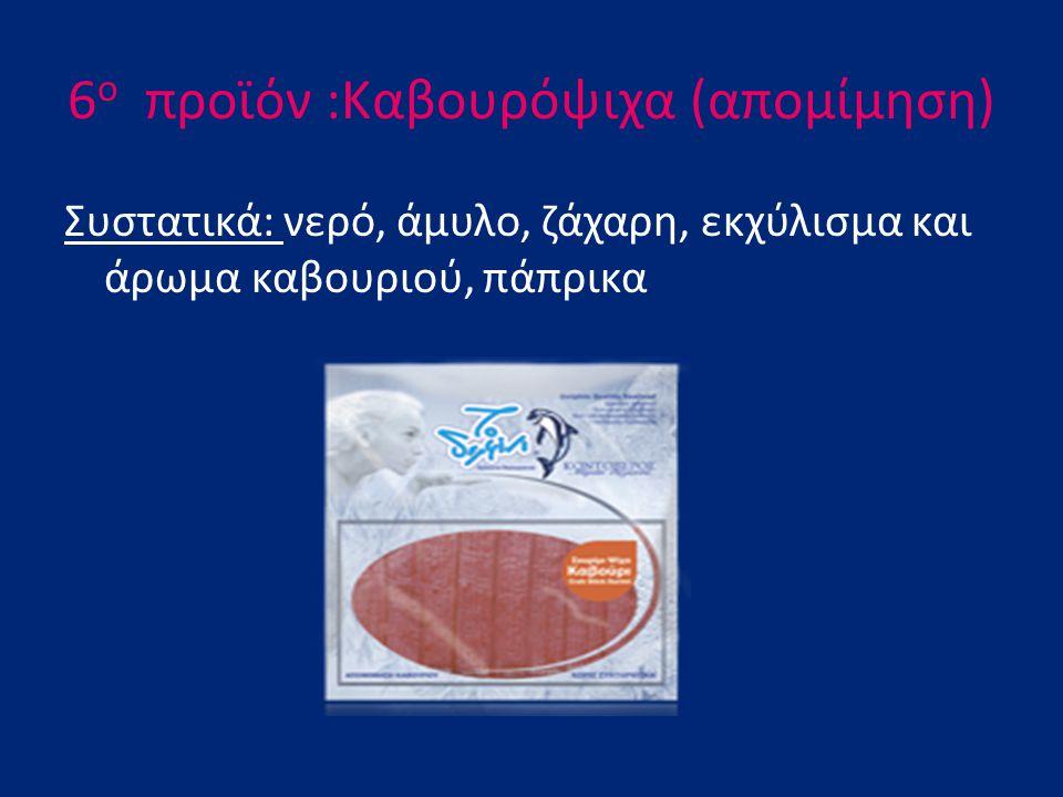 6ο προϊόν :Καβουρόψιχα (απομίμηση)