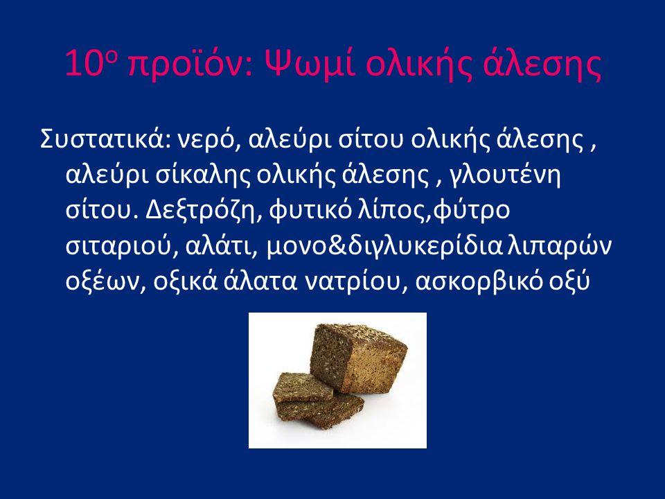 10ο προϊόν: Ψωμί ολικής άλεσης