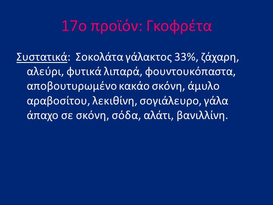 17o προϊόν: Γκοφρέτα