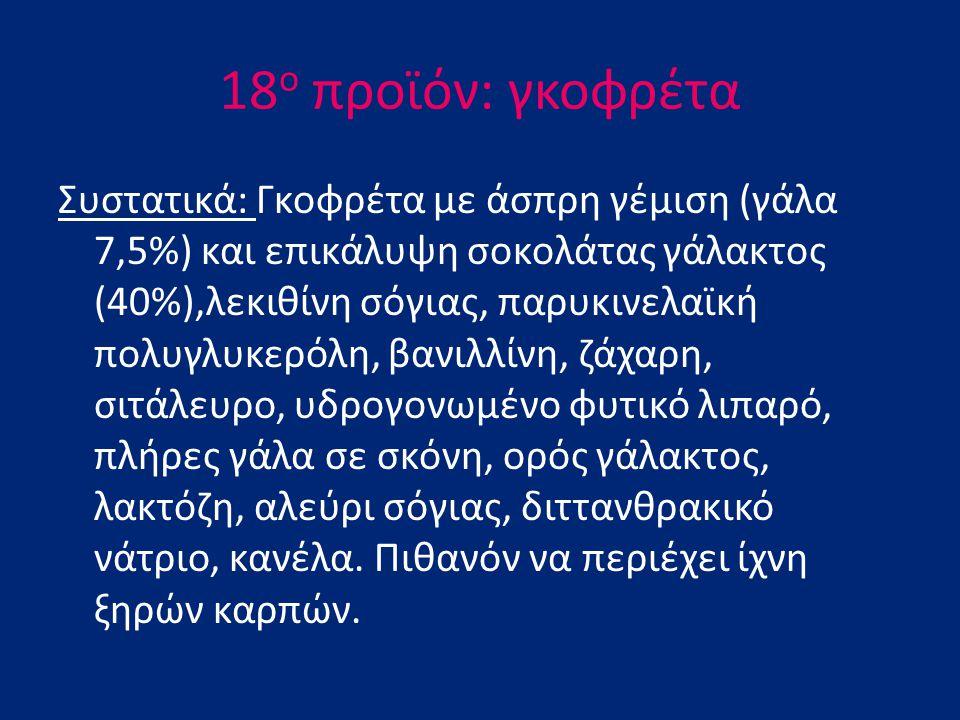 18ο προϊόν: γκοφρέτα