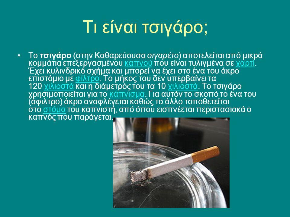 Τι είναι τσιγάρο;