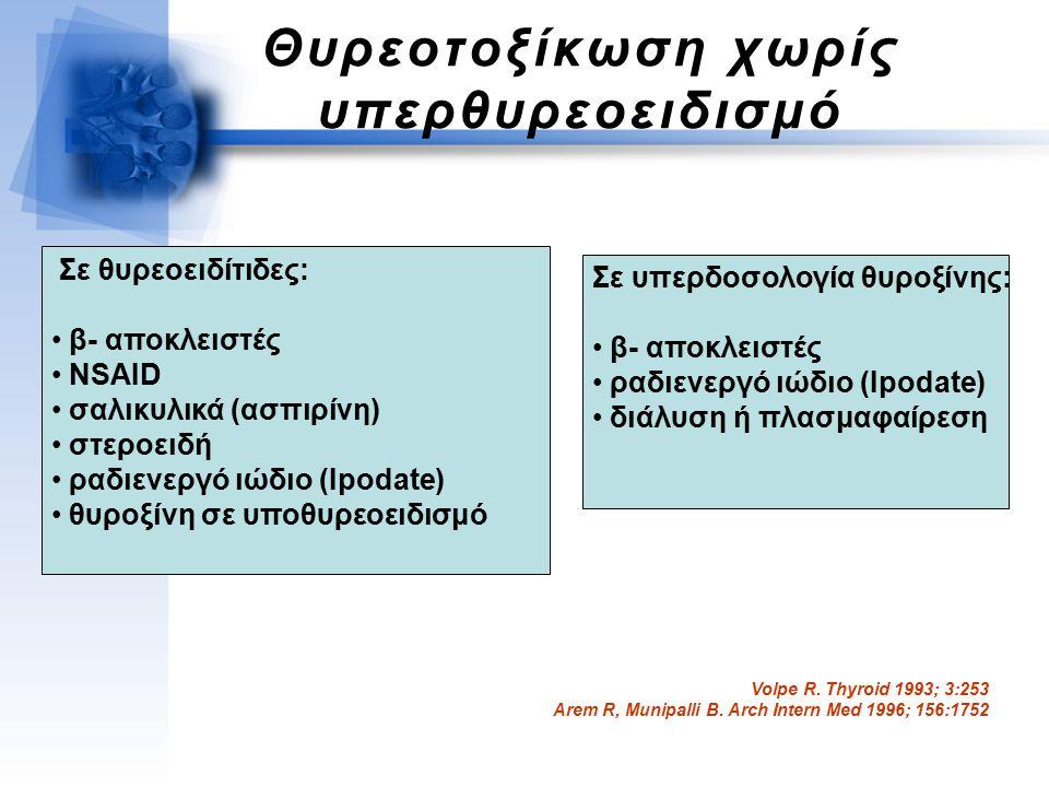 Θυρεοτοξίκωση χωρίς υπερθυρεοειδισμό