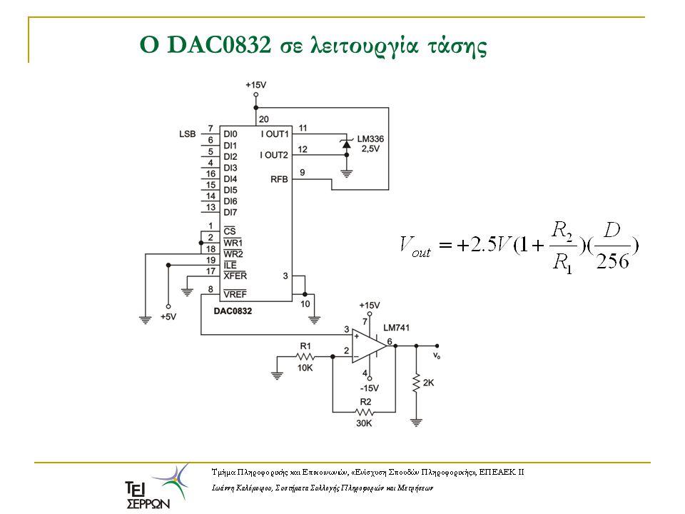 O DAC0832 σε λειτουργία τάσης