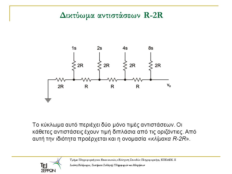 Δικτύωμα αντιστάσεων R-2R