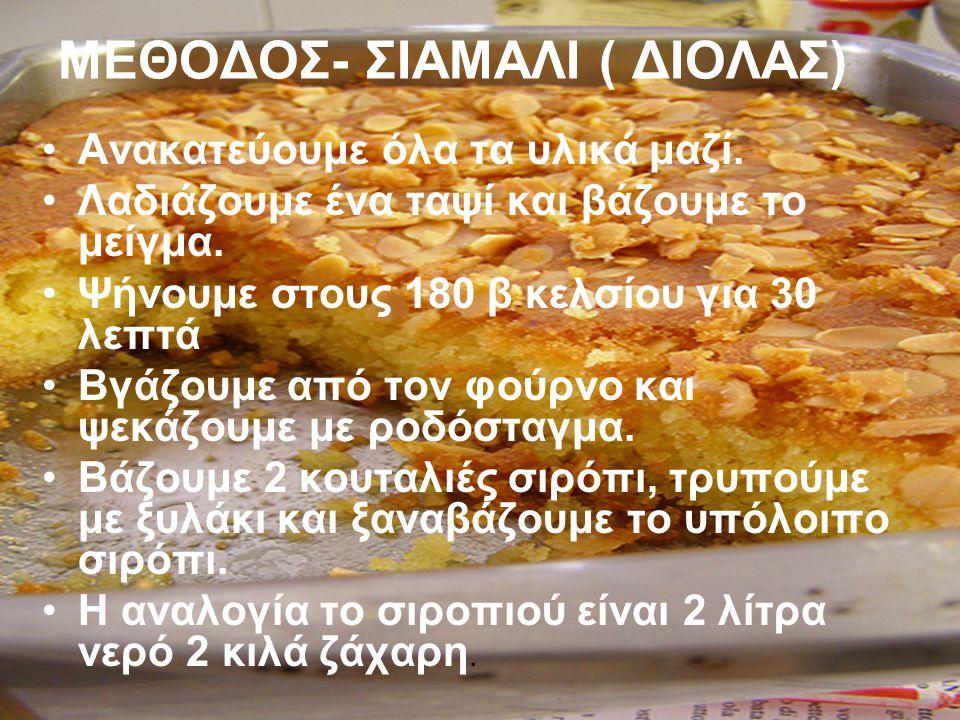 ΜΕΘΟΔΟΣ- ΣΙΑΜΑΛΙ ( ΔΙΟΛΑΣ)