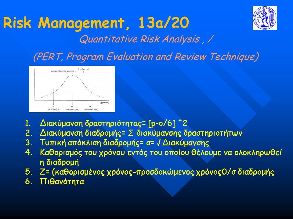 Risk Management, 13a/20 Quantitative Risk Analysis , /
