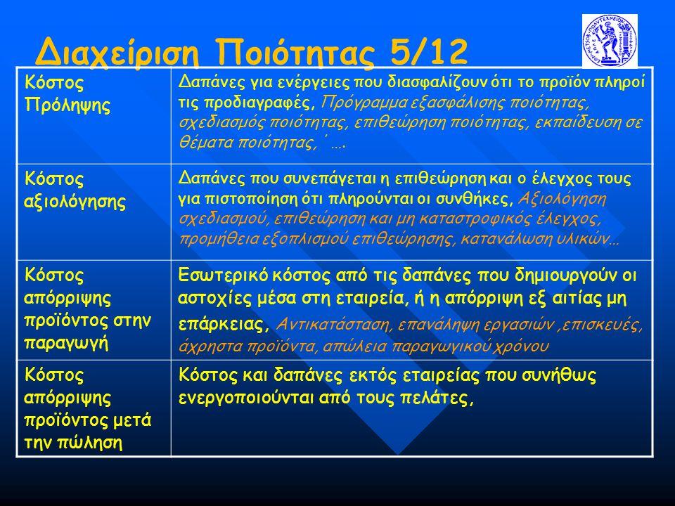 Διαχείριση Ποιότητας 5/12