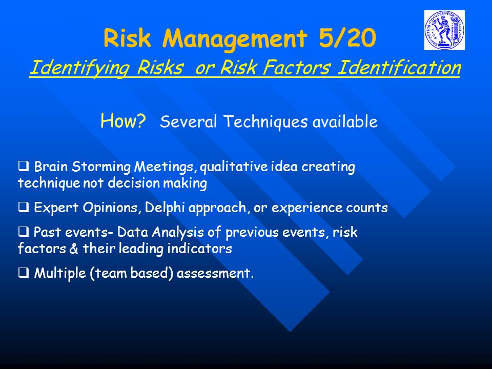 Identifying Risks or Risk Factors Identification