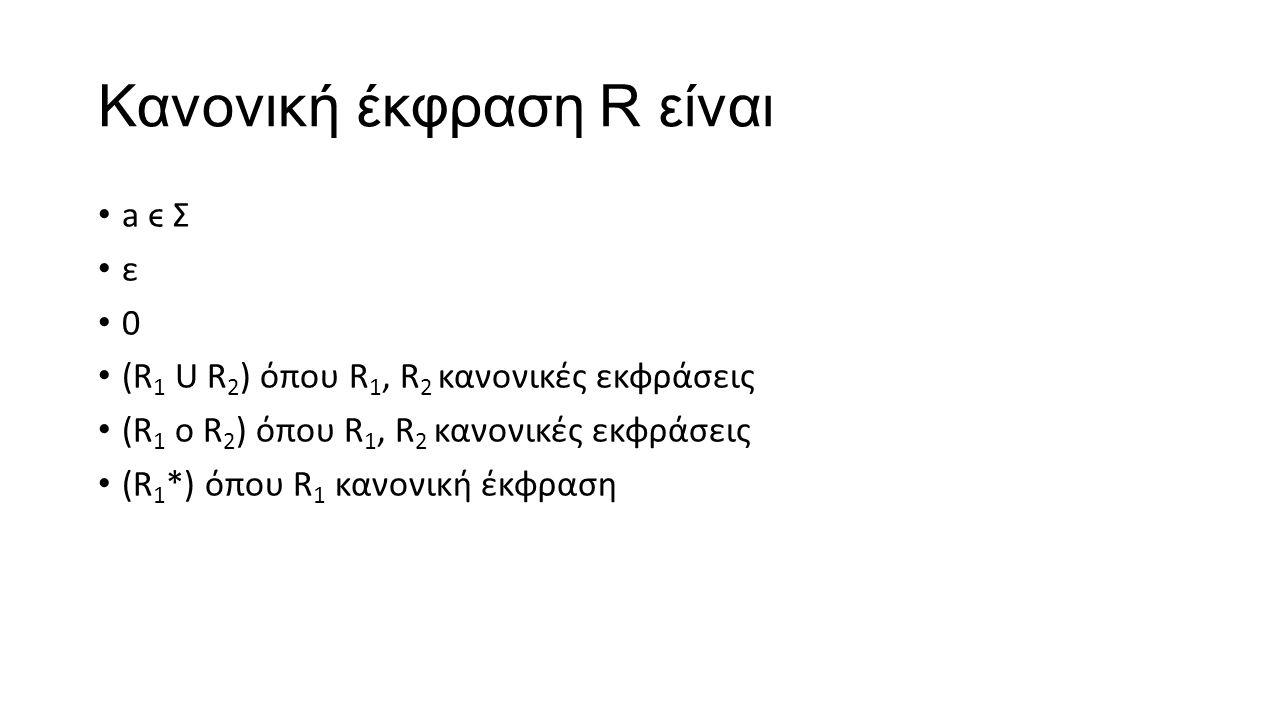 Kανονική έκφραση R είναι