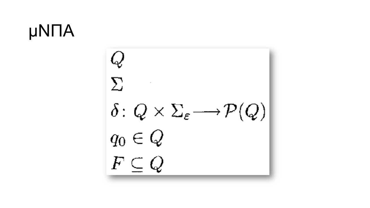 μΝΠΑ For any set Q we write P(Q) to be the collection of all subsets of Q.