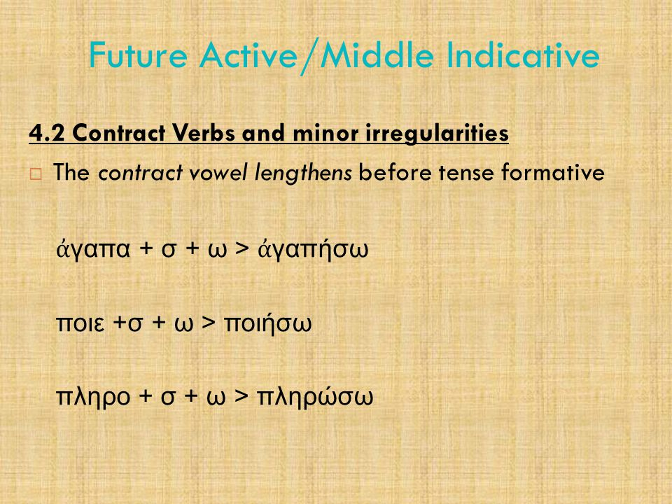 Future Active/Middle Indicative