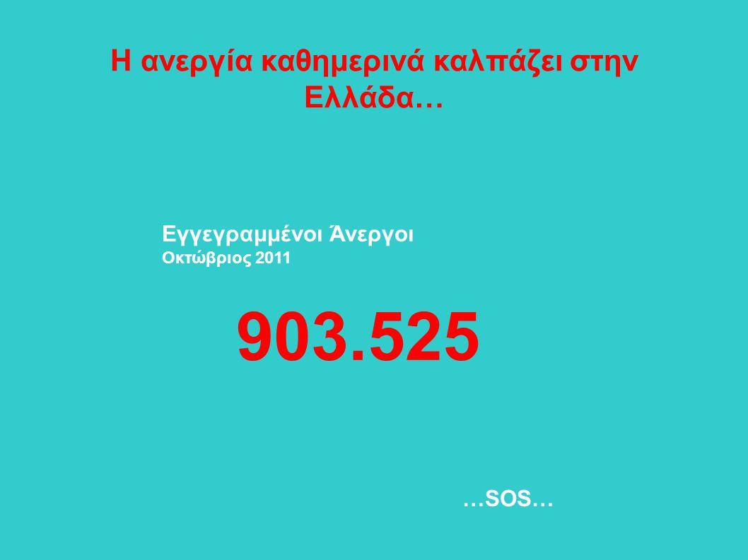 Η ανεργία καθημερινά καλπάζει στην Ελλάδα…