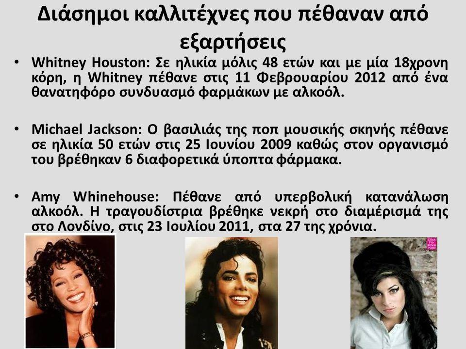 Διάσημοι καλλιτέχνες που πέθαναν από εξαρτήσεις