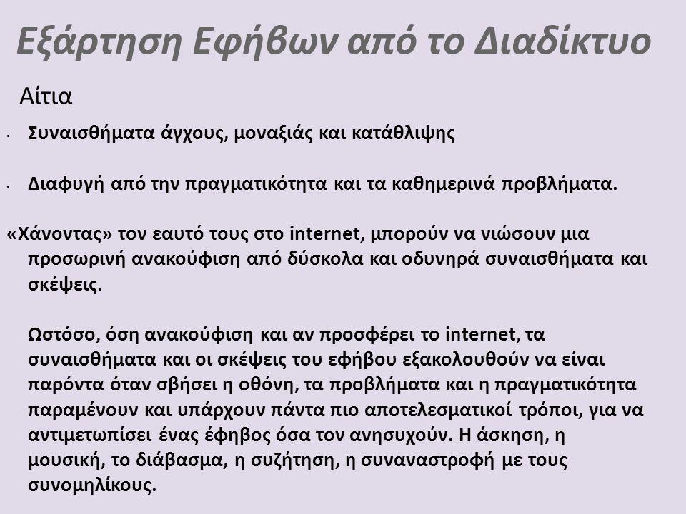 Εξάρτηση Εφήβων από το Διαδίκτυο