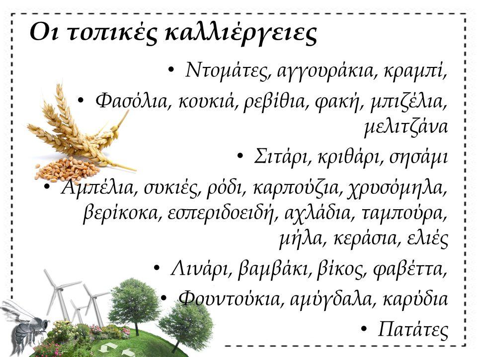 Οι τοπικές καλλιέργειες