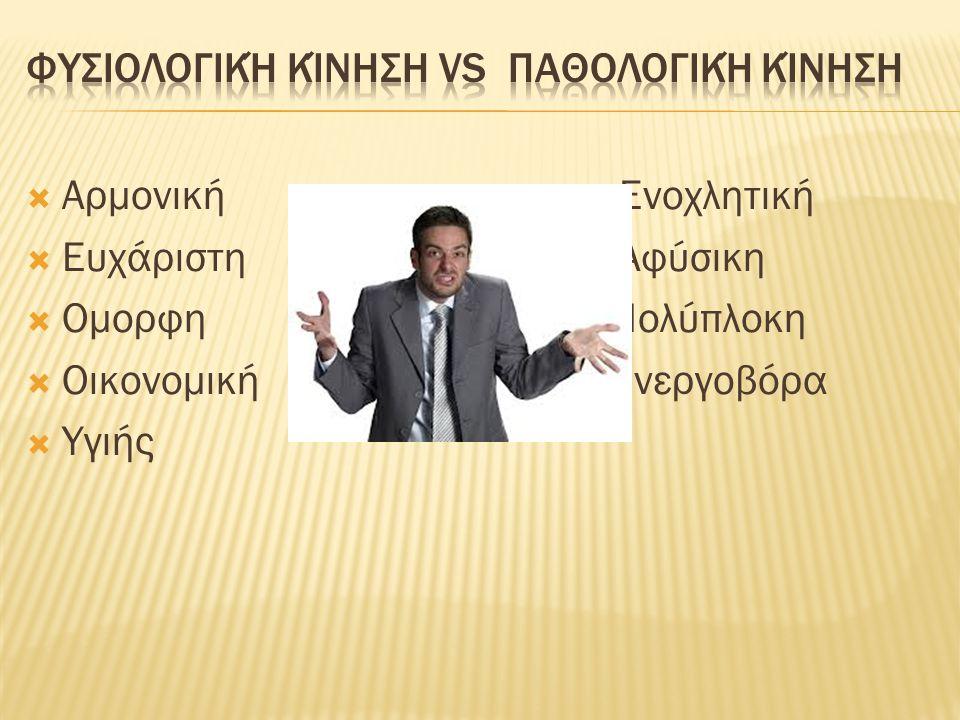 Φυσιολογική κίνηση vs παθολογική κίνηση