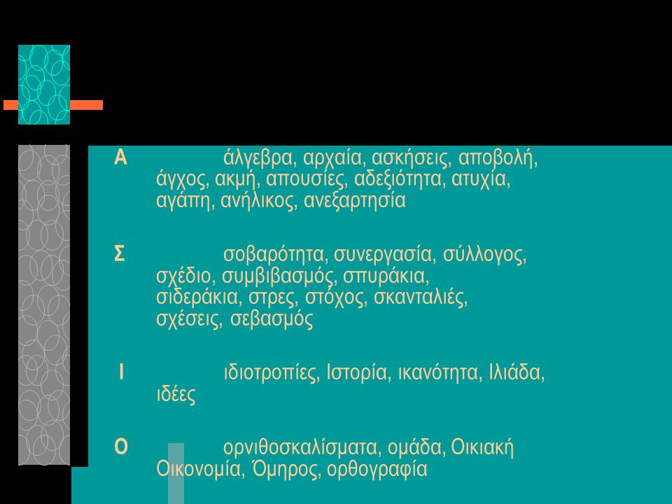 Α. άλγεβρα, αρχαία, ασκήσεις, αποβολή,