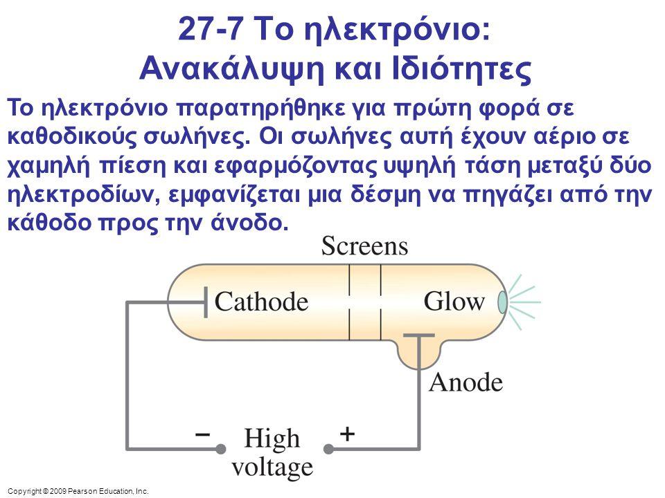 27-7 Το ηλεκτρόνιο: Ανακάλυψη και Ιδιότητες