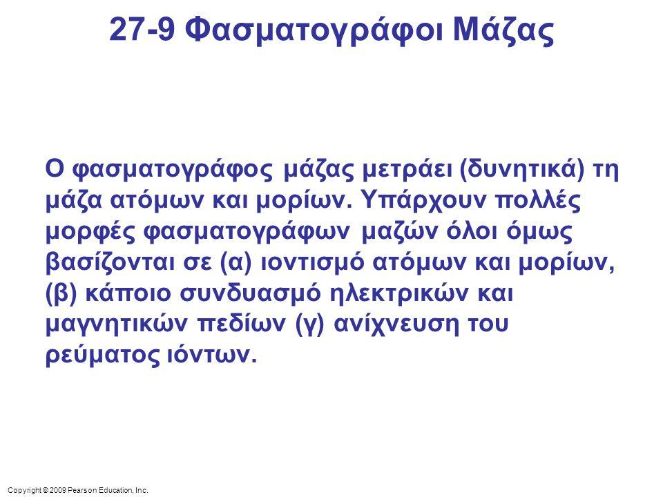 27-9 Φασματογράφοι Μάζας