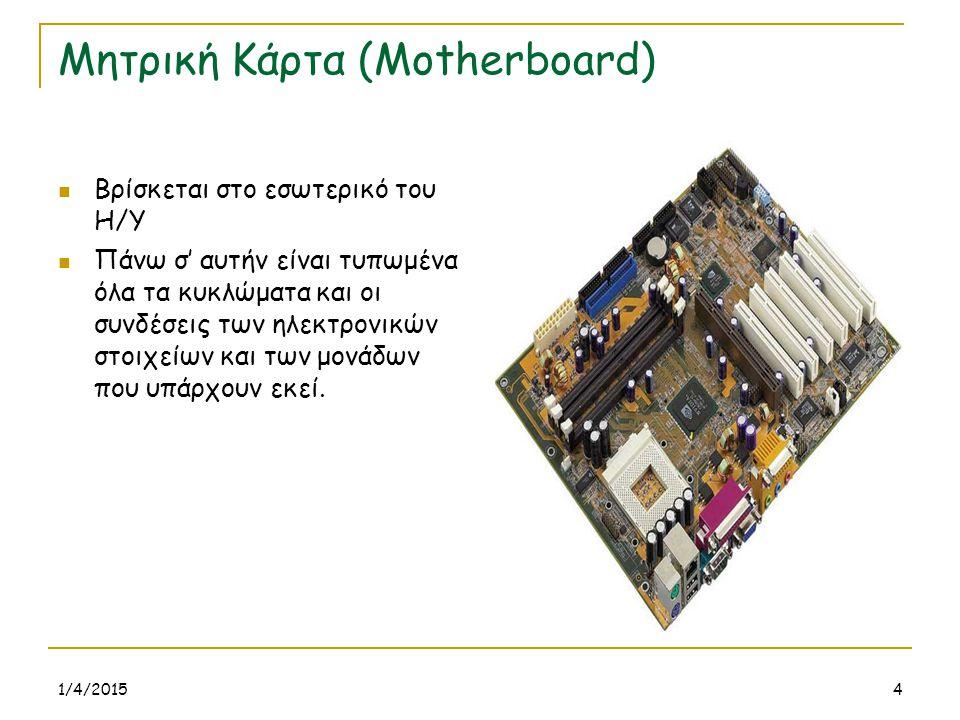 Μητρική Κάρτα (Motherboard)