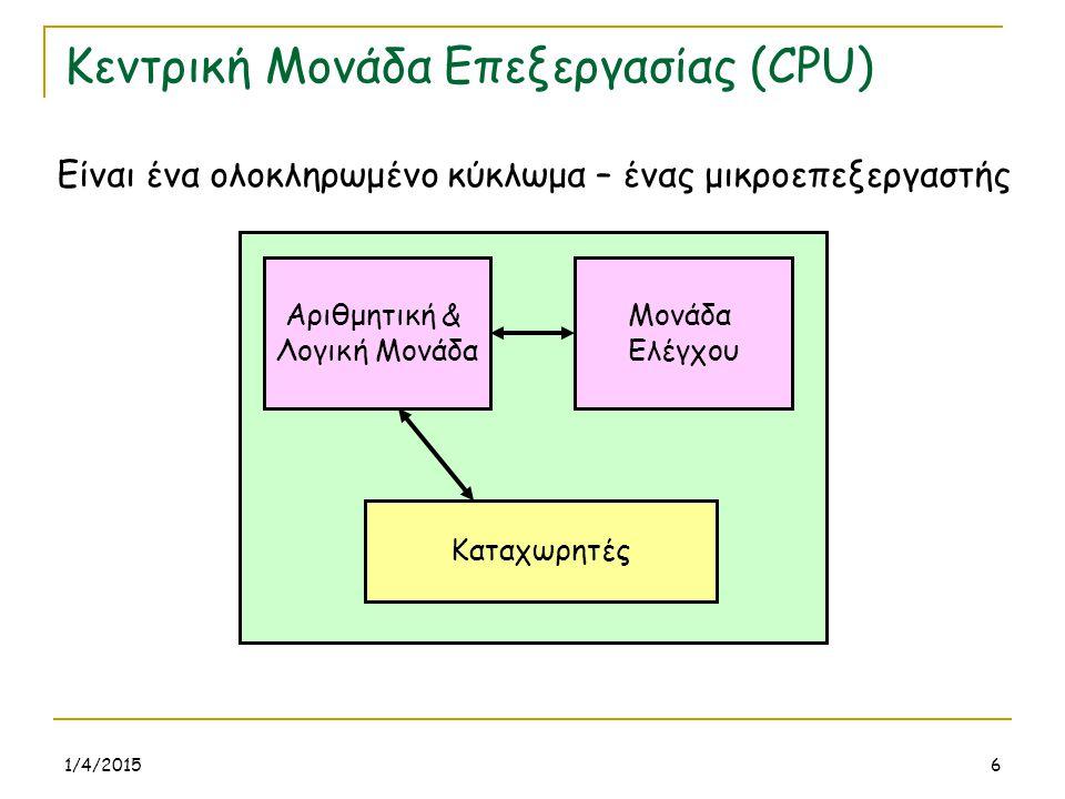 Κεντρική Μονάδα Επεξεργασίας (CPU)
