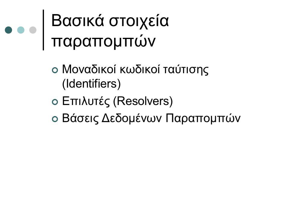 Βασικά στοιχεία παραπομπών