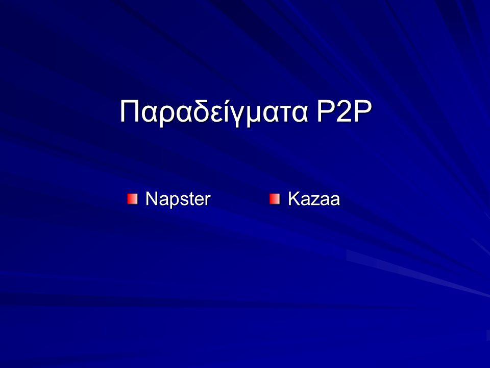 Παραδείγματα Ρ2Ρ Napster Kazaa
