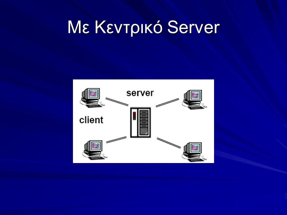 Με Κεντρικό Server