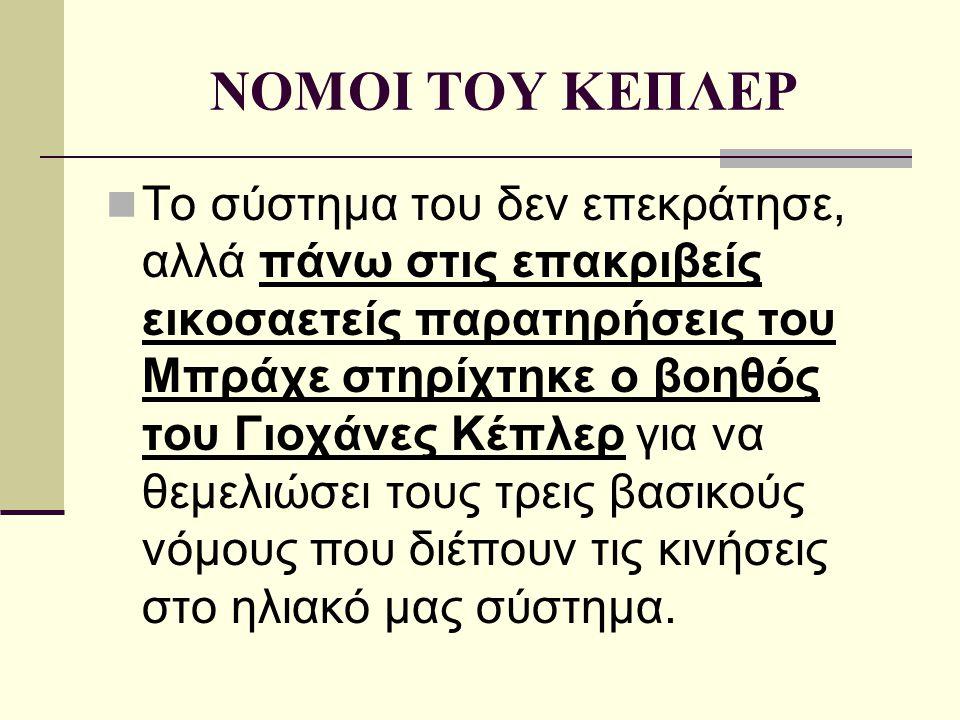 ΝΟΜΟΙ ΤΟΥ ΚΕΠΛΕΡ