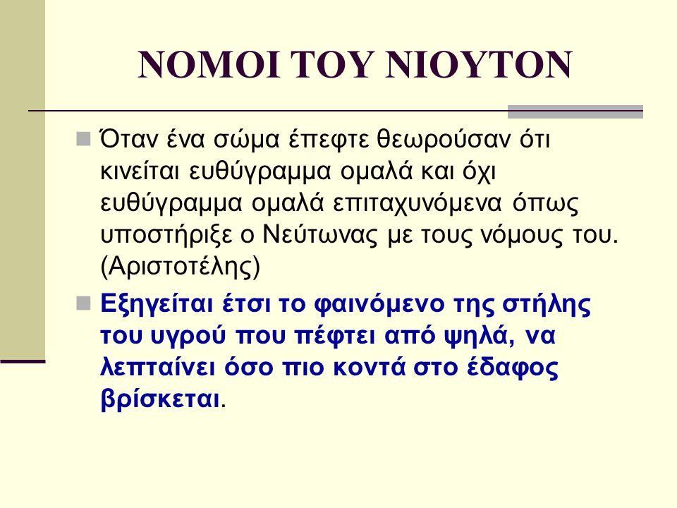 NOMOI TOY NIOYTON