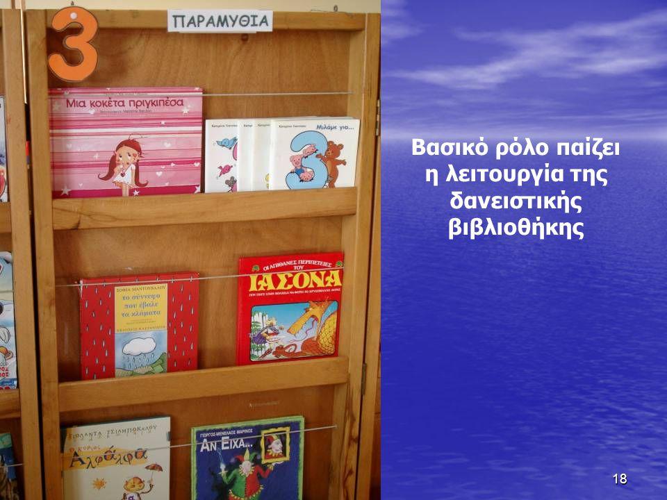 Βασικό ρόλο παίζει η λειτουργία της δανειστικής βιβλιοθήκης