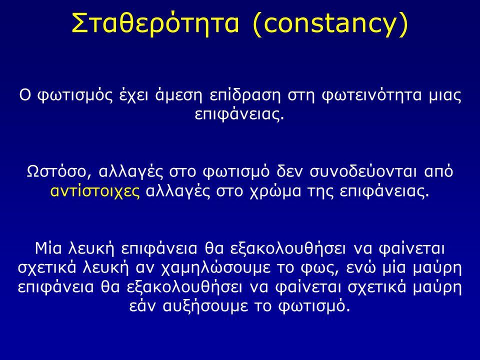 Σταθερότητα (constancy)