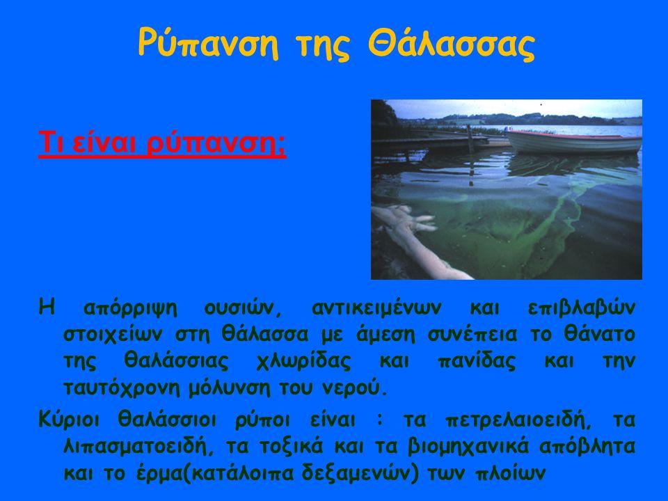 Ρύπανση της Θάλασσας Τι είναι ρύπανση;