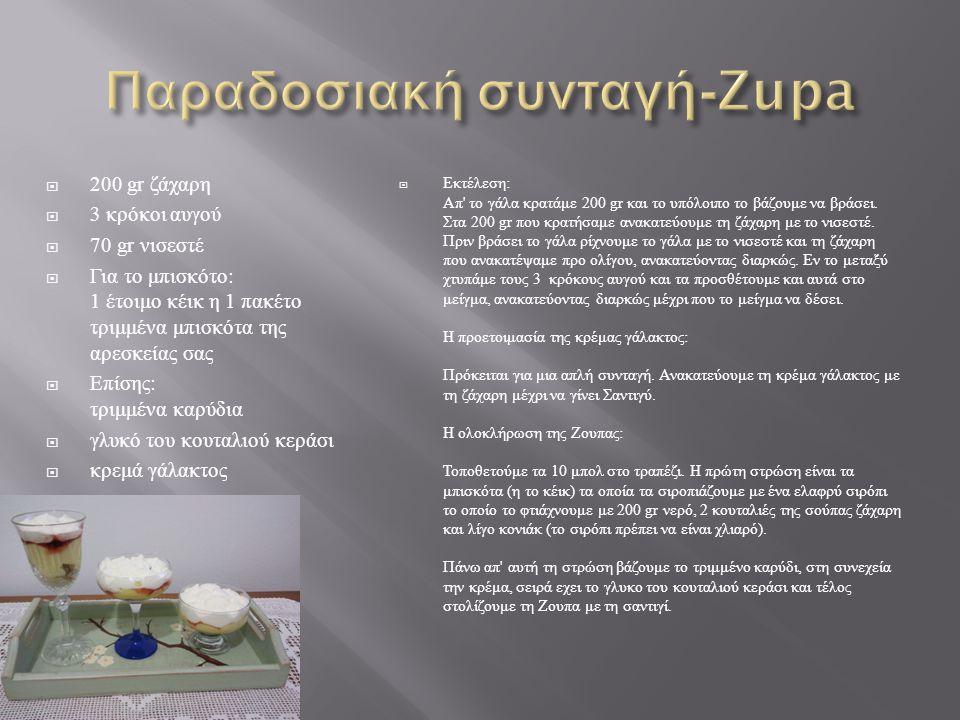 Παραδοσιακή συνταγή-Zupa