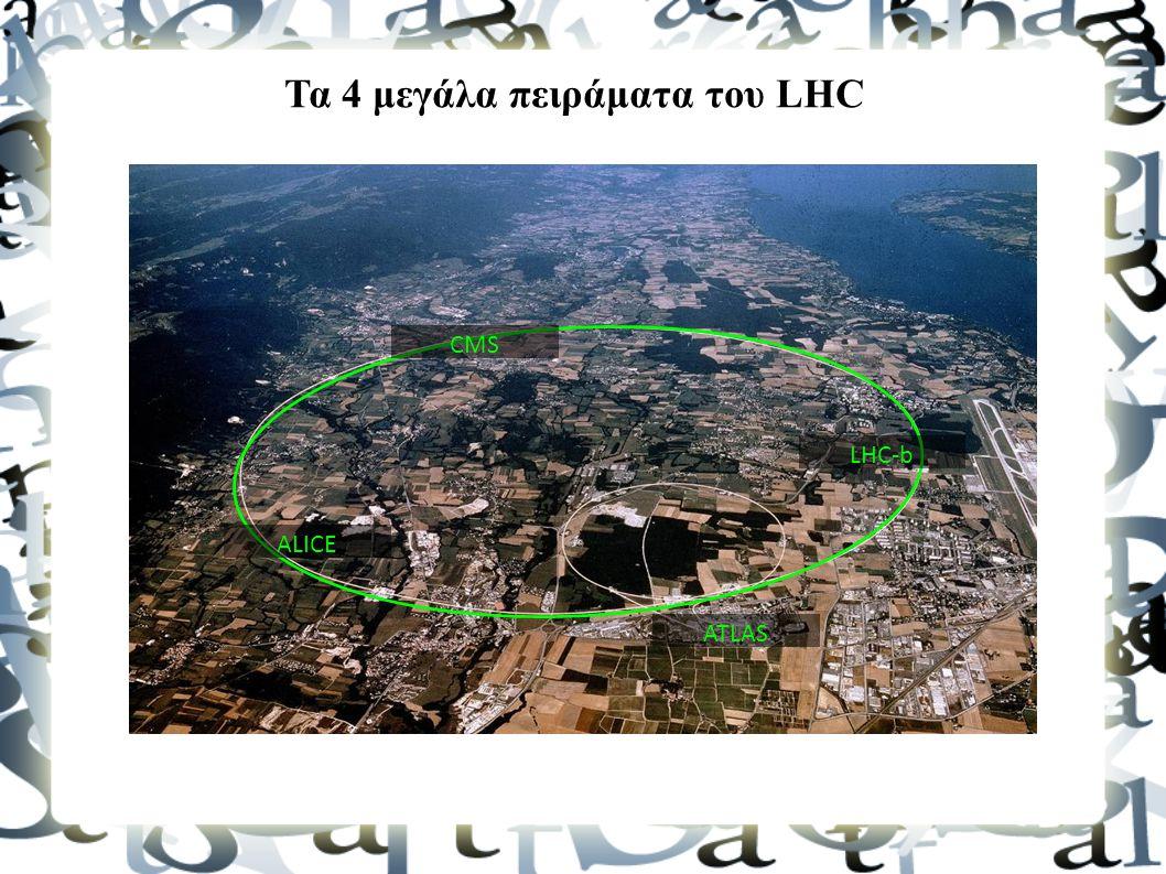 Τα 4 μεγάλα πειράματα του LHC