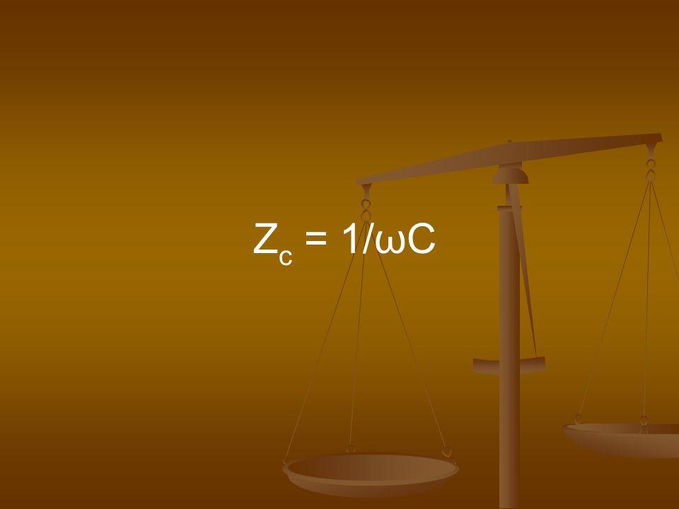 Zc = 1/ωC