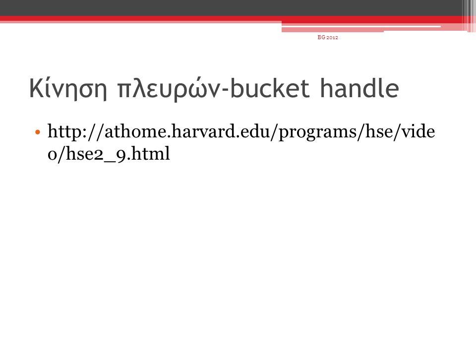 Κίνηση πλευρών-bucket handle